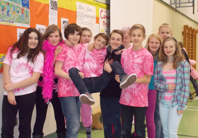 The aim of Pink Shirt Day is to put an end to bullying and discrimination. Photo  courtesy of Columbia Park Elementary School