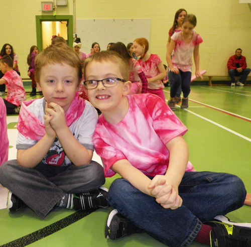 Friends in pink. Photo courtesy of Columbia Park Elementary School