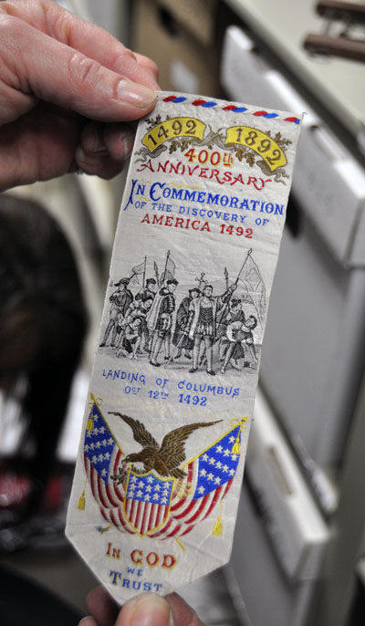 Some of the history isn't even hours, such as this american souvenir marking the 400th anniversary of Columbus' discovery of the New World in 1492.  David F. Rooney photo