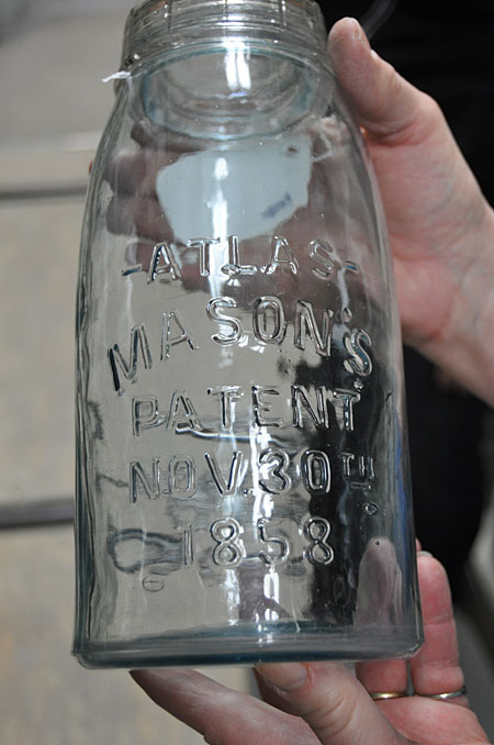 Here's another mason jar, this time from 1858.  David F. Rooney photo