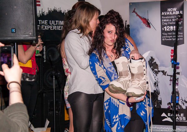 Sarah won snowboard boots for winning the Best Talent award. Next Friday night, The Last Drop Pub will be hosting the Top Bloke contest. Come on out for the party, ladies! Of course, gents are welcome as well. Jason Portras photo