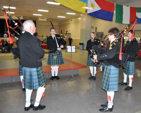 The Revelstoke Highland Pipe band opened this year's Carousel of Nations with a marvellous set of traditional tunes. David F. Rooney photo