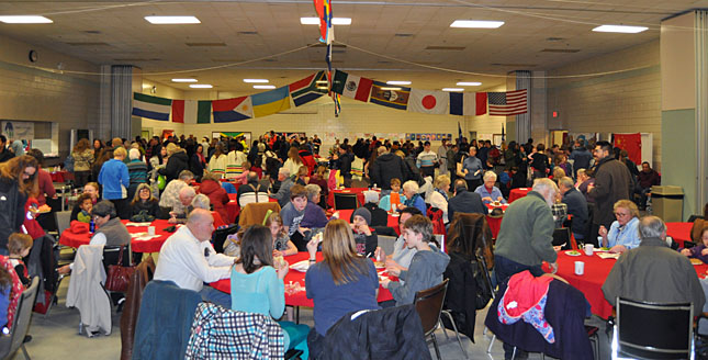 This was the crowd inside the Multi Purpose room during Saturday's Carousel of Nations. Se anyone you know? David F. Rooney photo