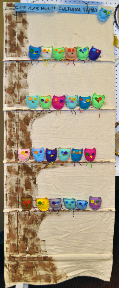 These adorable owls were created Columbia Park's Grade 4/5 kids. David F. Rooney photo