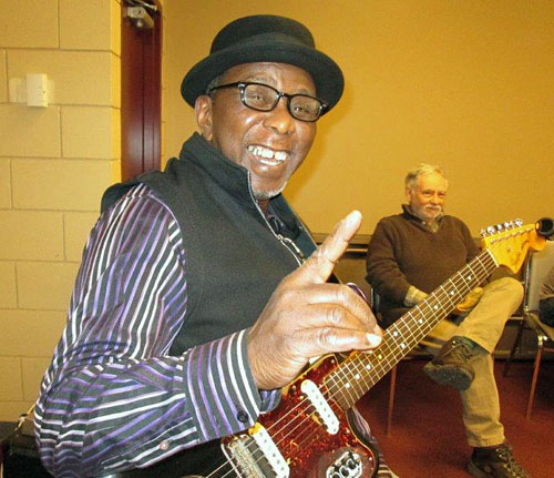 Legendary blues singer Wes Mackey held a blues workshop at the Community Centre on Sunday, February 2. Joe Verbalis photo