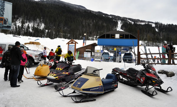 Sunday also saw a small snowmobile show 'n' shine up at Revelstoke Mountain Resort. David F. Rooney photo