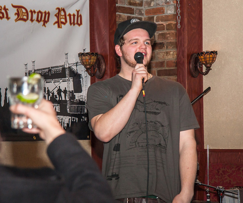 Spencer Tapanainen performed his first ever stand-up comedy routine.  Jason Portras photo