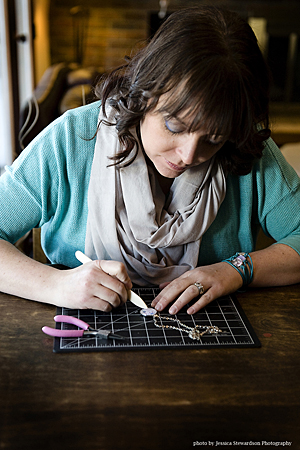 Local jeweller Melissa MacDonakd, who turns children's art, photos, handwriting and drawings into custom keepsake jewelry for men and women, is donating 30% of her sales to the Begbie View Elementary School's PAC.Jessica Stewardson Photo courtesy of Melissa MacDonald