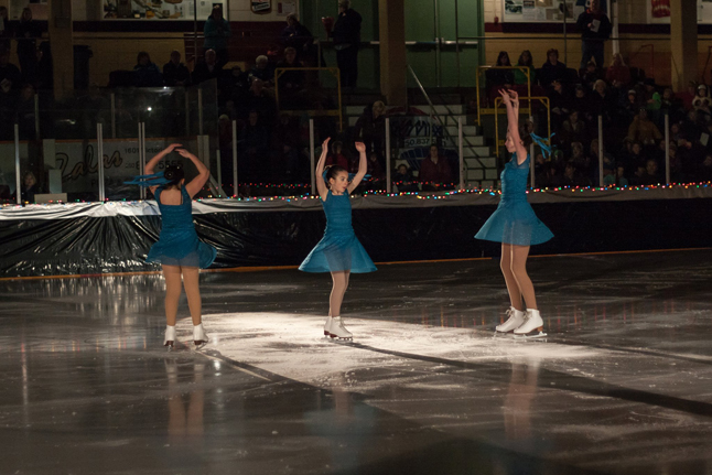 Scene II: Oceans Here are the Water Ripplers performing two-footed spins, as played by Cassidy Legebokow, Jaimie Reynolds, and Samantha Veninsky. Jason Portras photo