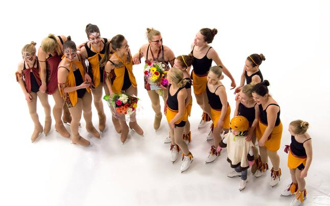 Coaches Nina Greschner & Adrienne Schurdevin celebrate a great end to their season with their pupils. Jason Portras photo
