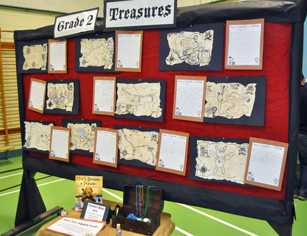 Yo-ho-ho! The Grade Two kids clearly had treasure maps on their minds. David F. Rooney photo