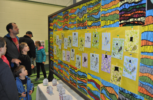 The Grade Four/Five kids also created these adorably goofy beaver paintings. David F. Rooney photo