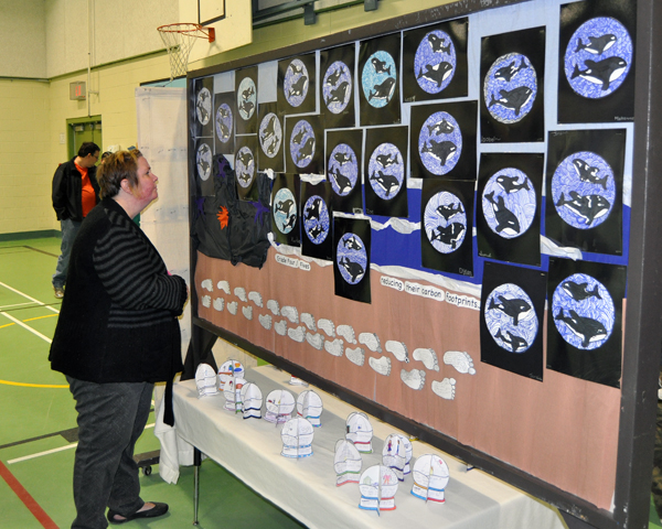 The Grade Four/Fives also created some amazing orca art. David F. Rooney photo