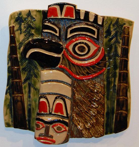 Haida Eagle Ceramic By Nancy Geismar