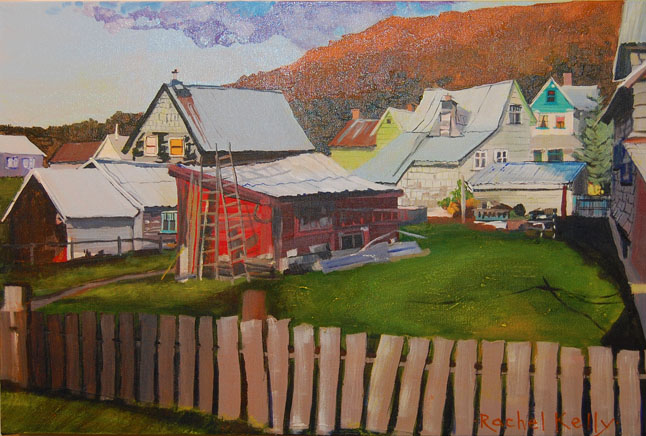 Revelstoke Backyard #7 by Rachel Kelly Acrylic on Canvas