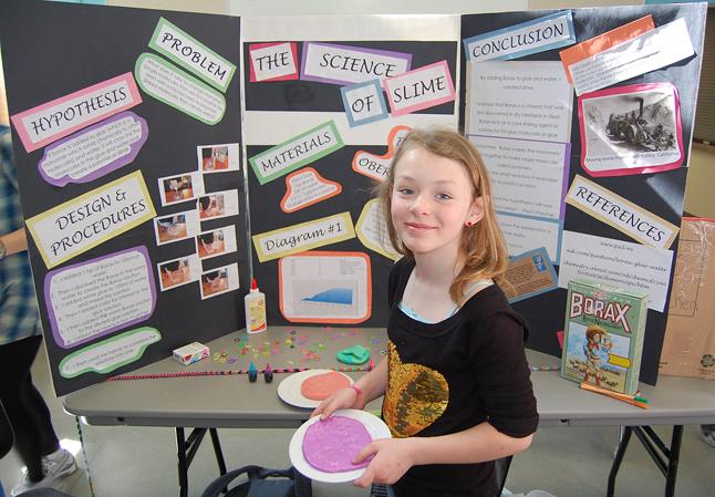 Holly Hamilton used borax to make some pretty icky slime. David F. Rooney photo
