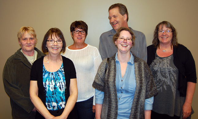 Community Connections' Executive Director Craig T. Brown singled out a number of employees for special recognition because of their long service. They include Maralee Faurot (five years), Kelly Riguedell (25 years), Melissa Jameson (five years) Kathy Stuart (25 years), Cathy Edmondson (20 years) and Ray Peterson (15 years). Missing are Gorette Imm and Stacy Sanchez. Both of them have five years service. David F. Rooney photo