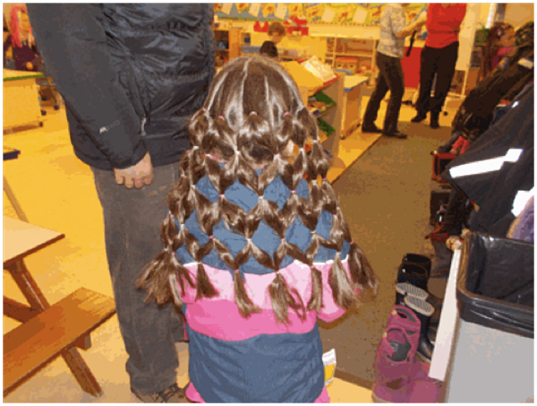 Madelyn with her stunning hairdo! Photo By Frankie, Student Reporter-Photographer