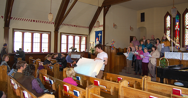 This is the choir scene shot in the United Church early on Wednesday afternoon. David F. Rooney photo
