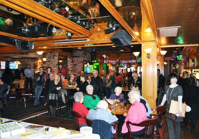 About 100 people gathered at the River City Pub for a party in honour of Kay Beruschi. David F. Rooney photo