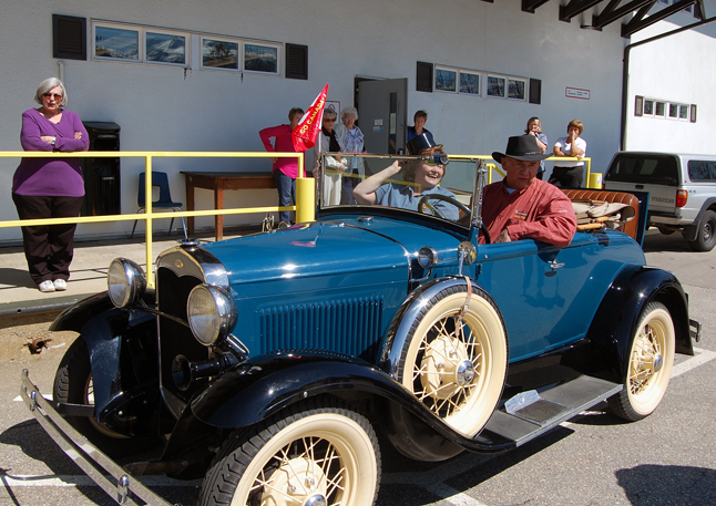 ... this time in Peter Bernacki's 1931 Ford Roadster. Enjoy your retirement, Linda. You will be missed! David F. Rooney photo