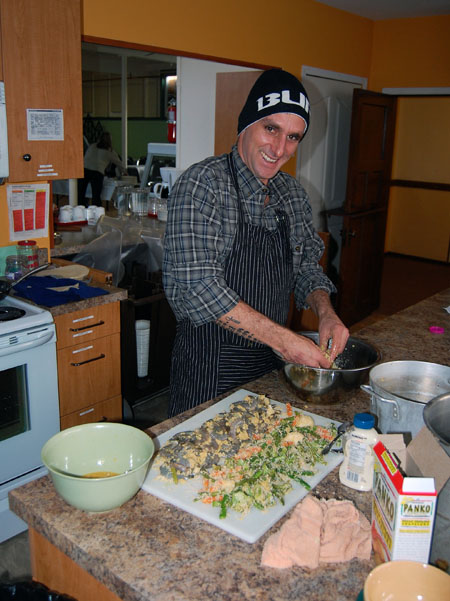 Peruvian chef David Schiaffino whipped some incredible appetizers for the Multicultural Society AGM on Wednesday, April 2. David F. Rooney photo