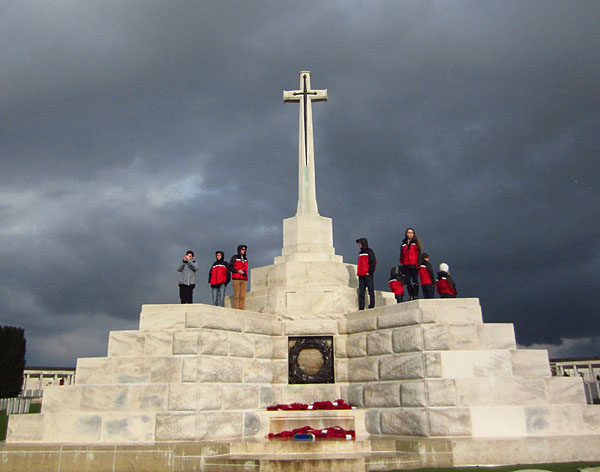 Revelstoke students at the Canadian War Cemetery No. 2.  Lisa Cancilla photo
