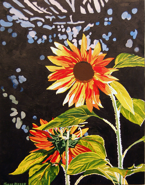One Sunny, One Shy Julie Kozek Acrylic on canvas