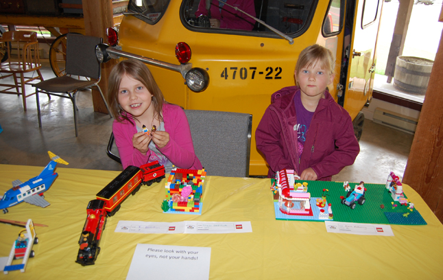 The Mother's Day Weekend started off as a busy one with events all over town, including the annual Lego event at the Railway Museum. Adelaide Dunkerson (left) and her friend Dana Mahoney were two of the children who brought their Lego creations. David F. Rooney photo