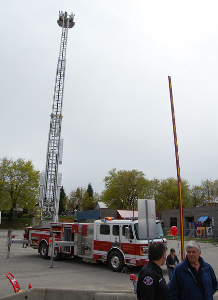 Over at the Fire Hall, hundreds of people turned out to see the Fire Rescue Service's new ladder truck. David F. Rooney photo