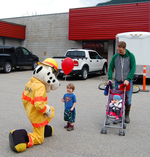 Sparky was on hand to meet with some of the Fire Rescue Services younger fans. David F. Rooney photo