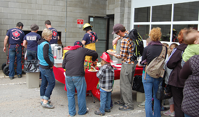 And there was food — all the burgers, hot dogs and cake you could eat, served up for free by some of Revelstoke's intrepid firefighters. David F. Rooney photo