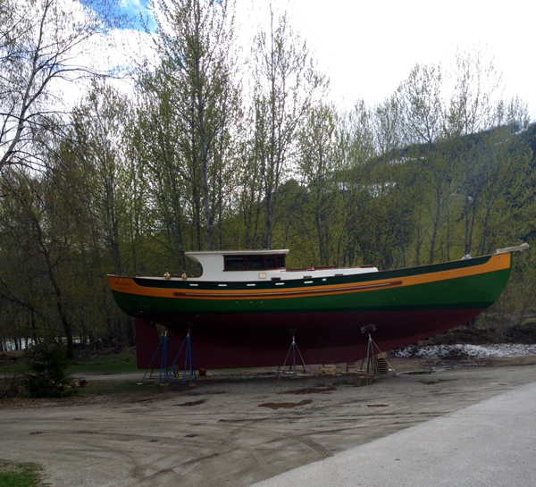 After working on it for more than a decade, Jim Gawiuk has finally completed his home-made sailing boat. Friend Peter Bernacki said Jim plans to live on it. Peter Bernacki photo