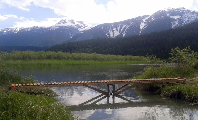 The new bridge is in a magnificent setting. The board of directors of the  Illecillewaet Greenbelt Society  is very grateful for their Monashee Unit's hard work. Thank you! Christian Foster photo
