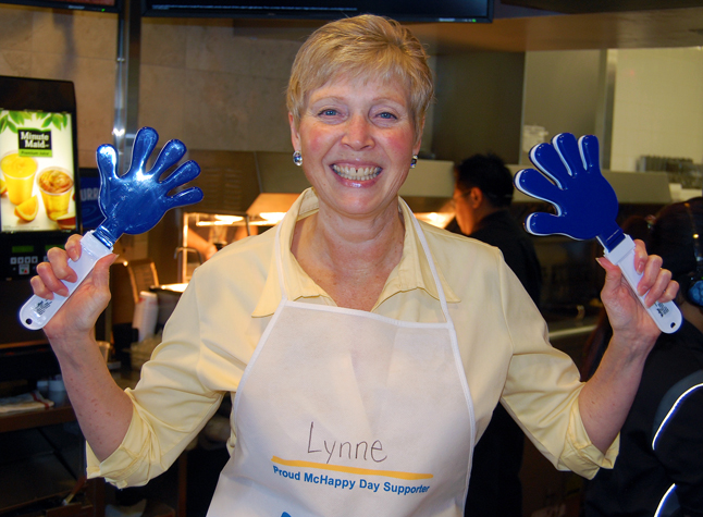 Meanwhile RBC Manager Lyn Welock was having a lot of fun with these noise-makers. David F. Rooney photo