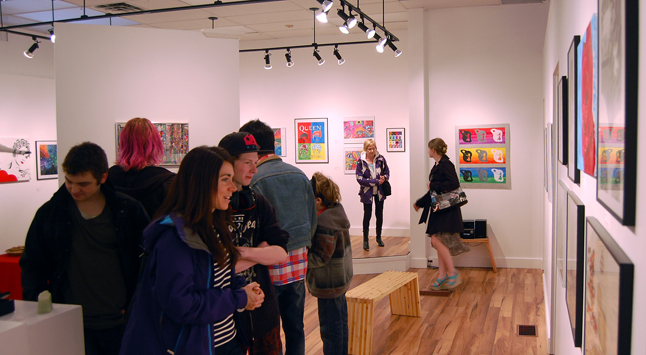 More than 135 people attended friday opening for the exhibition of works by RSS students. David F. Rooney photo