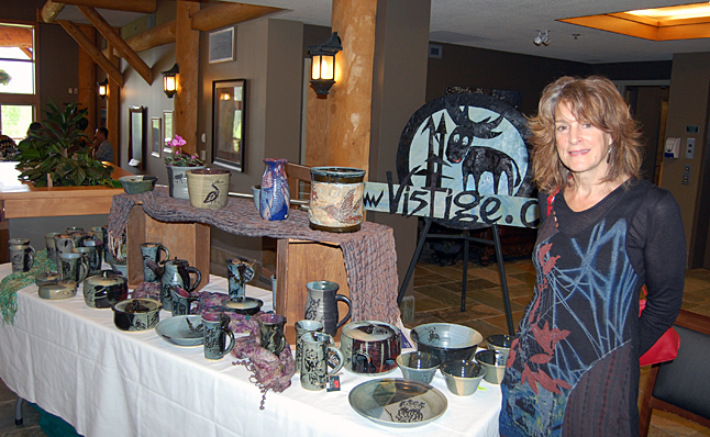 Local potter Jacqueline Palmer displayed her lovely pottery. She has a new website to market her creations. You can visit it at www.vistige.ca. David F. Rooney photo