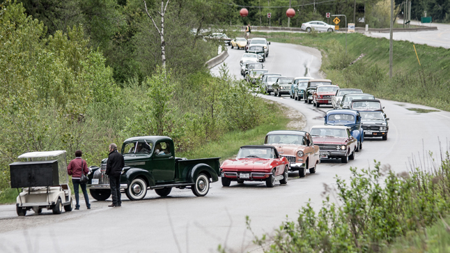 A line of vintage cars snaked their way along the side road entrance to the Round House at The Gap, patiently waiting to enter the grounds. Jason Portras photo