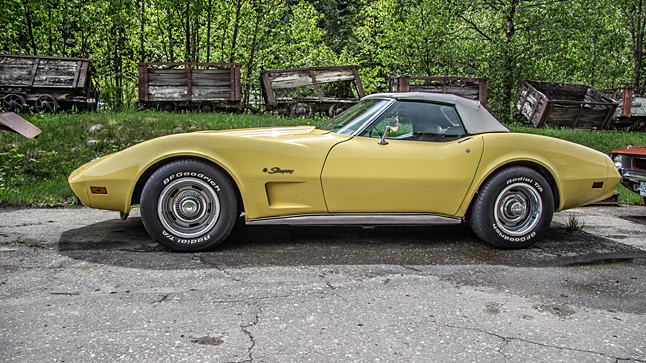 Just look at the endless curves on that Stingray 'Vette. Wow. Jason Portras photo