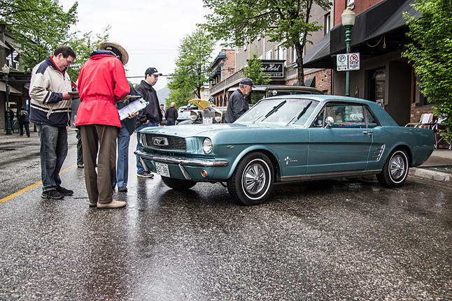 Judging a beautiful classic Ford Mustang. Will she win a prize for her owner? Jason Portras photo