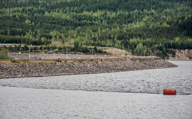 The Revelstoke Dam Crest was quickly infiltrated by an army of classic cars. Jason Portras photo
