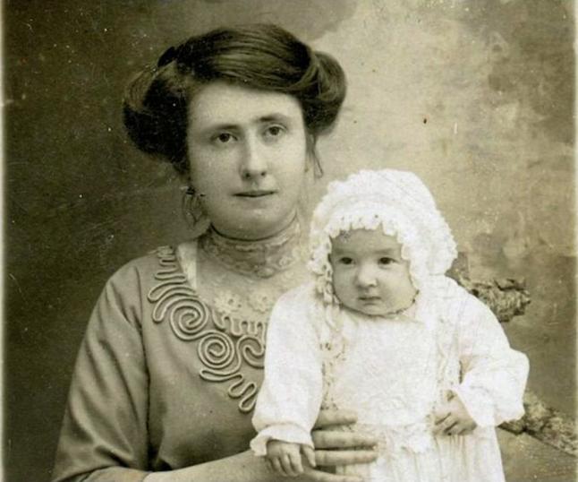 Angelo's widow, Anna, and their daughter Gigetta. Photo courtesy of Nicola Moruzzi