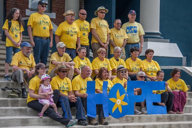 Revelstoke's cancer survivors. Jason Portras photo