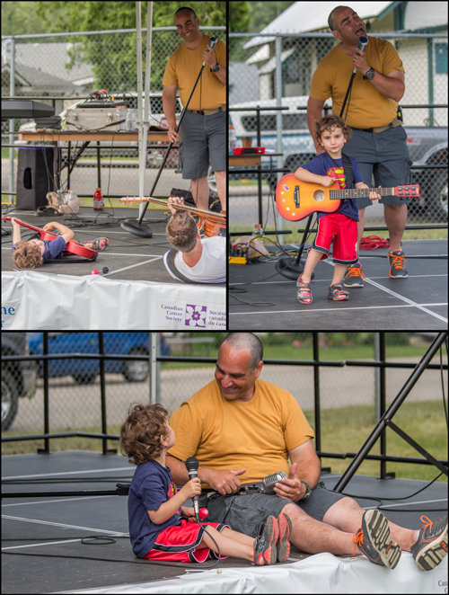 This was a great father-son moment later in the evening with Dan Sculnick, member of the local band 45 Minutes and his little guy. Jason Portras photo