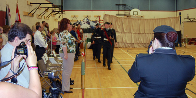 With the medal presentations over, the cadets advance in review. David F. Rooney photo