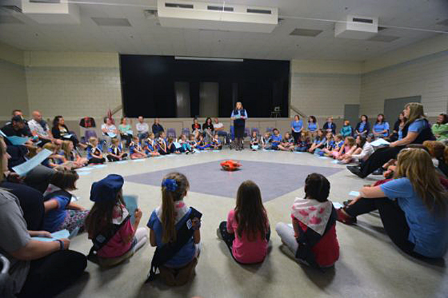 Revelstoke's Sparks, Brownies and Girl Guides gathered in the Community Centre on Wednesday evening for their annual fly-up ceremony. Their organization is very active in Revelstoke and offers a lot of fun activities and learning opportunities to local young ladies. Simon Hunt photo
