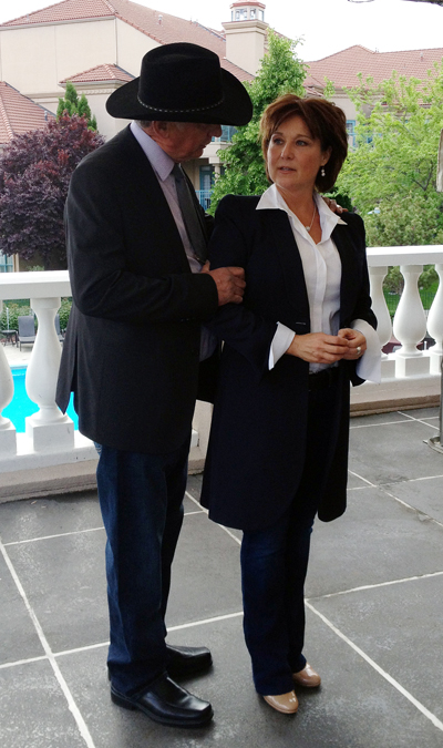 Peter Bernacki poses with premier Christy Clark during a break in last month's BC Liberal Party convention in Kelowna. Bernacki also received a special award for his volunteer work on  behalf of the party. The very active party stalwart would like to get the premier to visit revelstoke sometime this autumn. Can he do it? We'll let you know. Photo courtesy of Peter Bernacki
