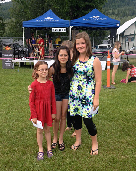 Here's another view of the top three Talent Contest winners — Monica Parkin, Aza Deschamps, and Juliana Carter. Lovely ladies. Bex Reid-Parkin photo