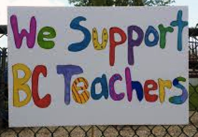 Revelstoke teachers are staging a rally this morning, Tuesday June 16, at Grizzly Plaza. They are meeting at the Revelstoke branch of the Okanagan Regional Library at 10:30 and then walking to the plaza. All members of the public are invited to join them. Photo courtesy of Sarah Newton