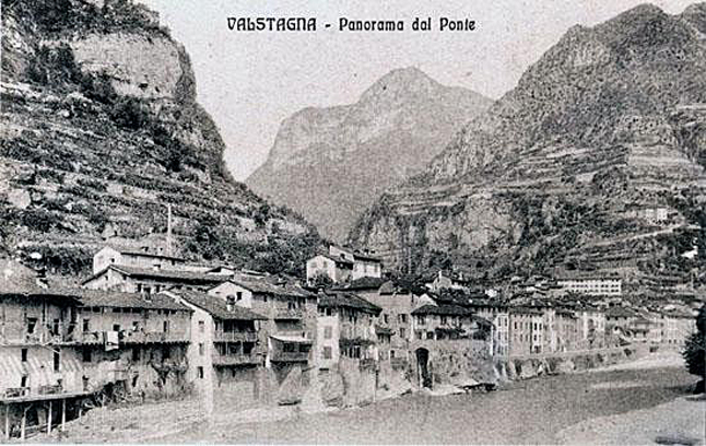 Angelo and Anna's home town of Valstagna. Postcard courtesy of Nicola Moruzzi